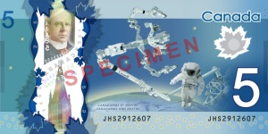 Space achievements proudly listed on the back of our new $5 bill.