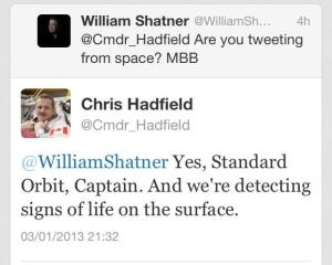 Hadfield Tweet